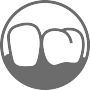 Icon für den Bereich Parodontologie der Gemeinschaftspraxis Dr. Helge Loock und Kollegen.