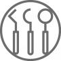 Icon für den Bereich Prophylaxe der Gemeinschaftspraxis Dr. Helge Loock und Kollegen.